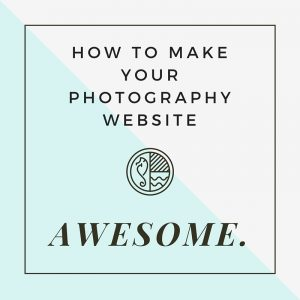 Make your photography website awesome